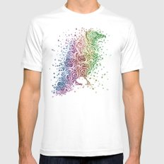 A Crow of Lace and Color Mens Fitted Tee White MEDIUM