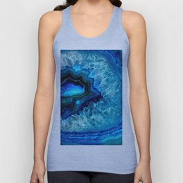 Turquoise Blue Teal Quartz Crystal Unisex Tank Top