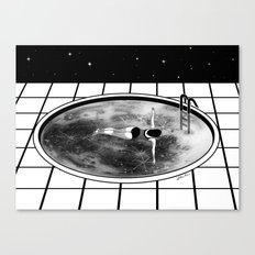 Pool Moon Canvas Print