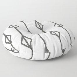 Hand-drawn diamond pattern Floor Pillow