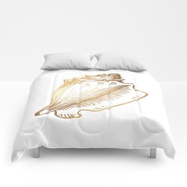 Gold Conch Shell Comforters