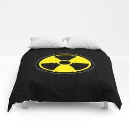 radioactive symbol Comforters