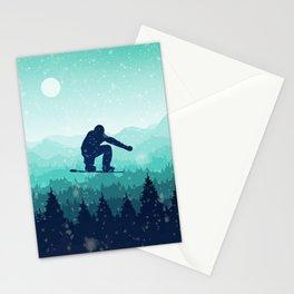 Snowboard Skyline II Stationery Cards