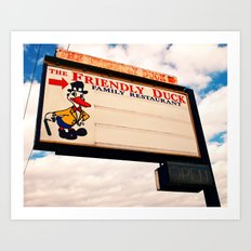 The Friendly Duck Restaurant Art Print