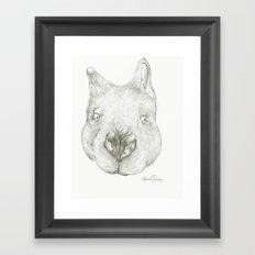 Jumping Fuzzy  Framed Art Print