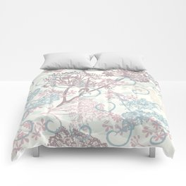 Spring morning field. Abstract floral pattern Comforters