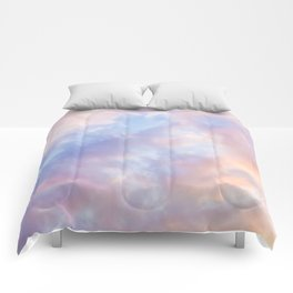 cotton candy clouds Comforters