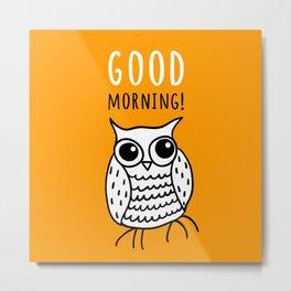 Funny owl Metal Print