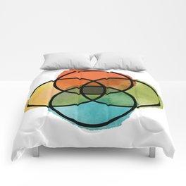 Ikigai Watercolor Comforters