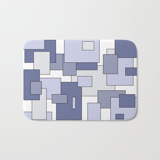 Squares - blue. Bath Mat