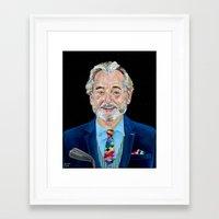 bill murray Framed Art Prints featuring BILL MURRAY by Jordan Soliz