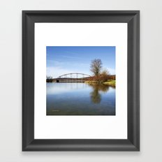 Solitude Bridge Landscape Framed Art Print