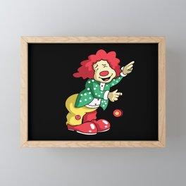 Funny Weiner Clown Framed Mini Art Print