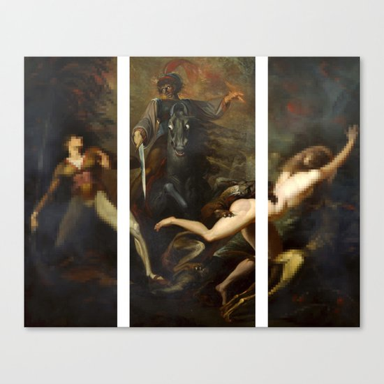 Modern Triptych: Digital Theodore meets the Spectre Canvas Print