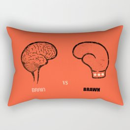 Brain vs Brawn Rectangular Pillow