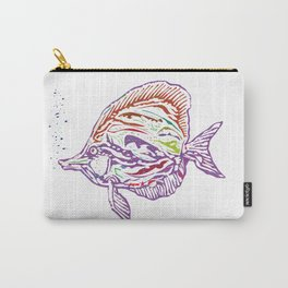 Purple Tropical Fish Carry-All Pouch