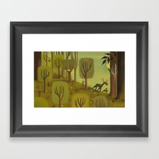 Moose Of The Woods Framed Art Print
