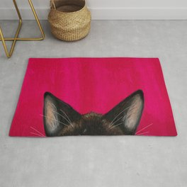Snowshoe Cat Ears Rug