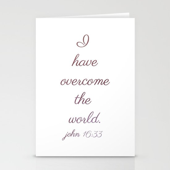 I Have Overcome the World Stationery Cards