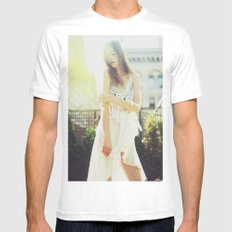 A Golden Summer's End Mens Fitted Tee MEDIUM White