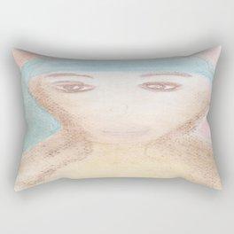 Spiritual Chalks Drawing of Mother Teresa of Calcutta, India Rectangular Pillow