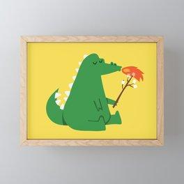 Dragon and Marshmallow Framed Mini Art Print