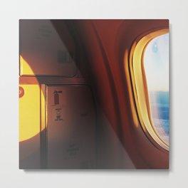FIRST LIGHT // PLANE WINDOW Metal Print