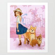 Woof La La Art Print