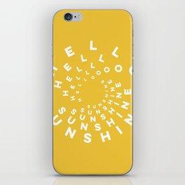 Hello Sunshine #minimal #typography #summervibes iPhone Skin