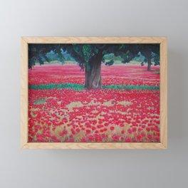 Olive Tree in Poppy Field Framed Mini Art Print