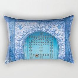 Doorways - Morocco - Chefchaouen The Blue City 19 Rectangular Pillow