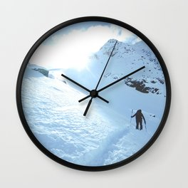 Mountain photography / Mountain & Snow Poster Wall Clock
