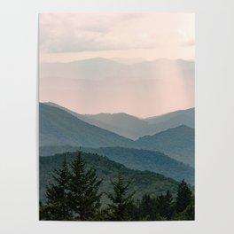 Smoky Mountain Pastel Sunset Poster
