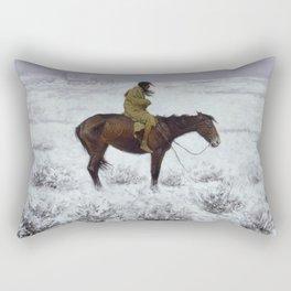 Frederic Remington - The Herd Boy Rectangular Pillow