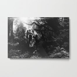 Black and white Jurassic period Metal Print