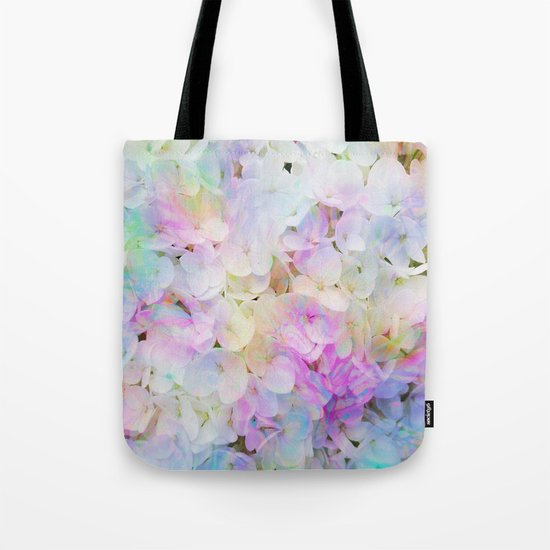 Marble Lights Hydrangea Tote Bag