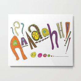 Aaaaahh!!! Metal Print