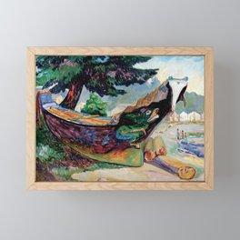 War Canoe (Alert Bay) by Emily Carr Framed Mini Art Print