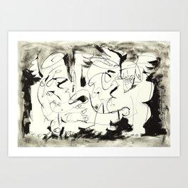 Angels Chatting Art Print
