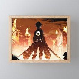 """""""Hero"""" Attack on Titan Framed Mini Art Print"""