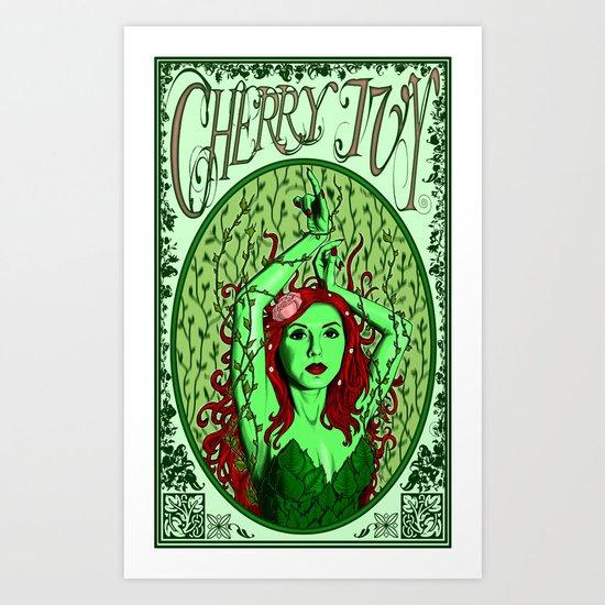 Cherry Ivy Art Print