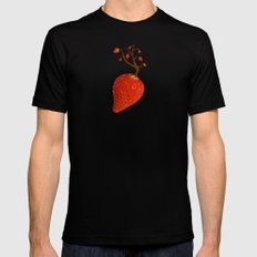 Strawberry Concept MEDIUM Black Mens Fitted Tee
