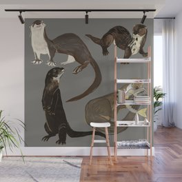 Old World otters Wall Mural