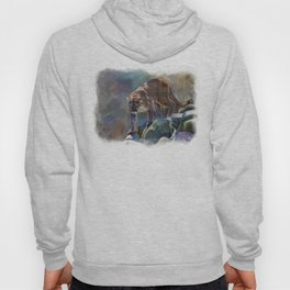 The Mountain King - Cougar Wildlife Art Hoody