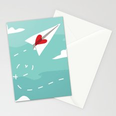 Love Letter Airplane Stationery Cards