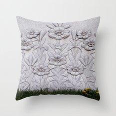 Stone Flowers Throw Pillow