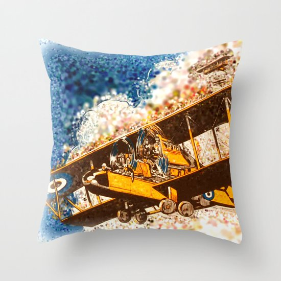 Wings Aloft Throw Pillow