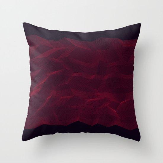 Facets - Dark Purple Throw Pillow