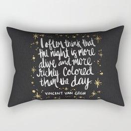Night Owl on Gold Rectangular Pillow