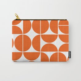 Mid Century Modern Geometric 04 Orange Carry-All Pouch